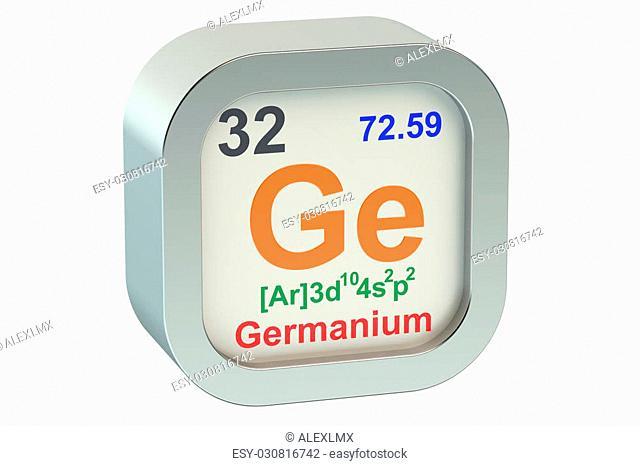 Germanium element symbol isolated on white background