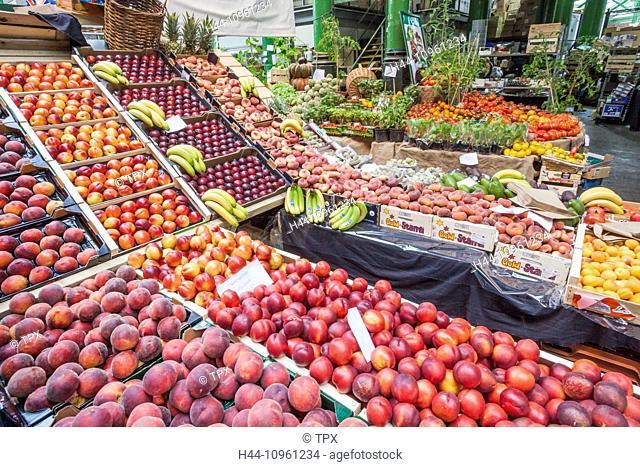 England, London, Southwark, Borough Market, Fruit and Vegetable Stall