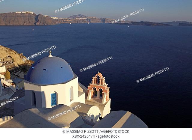 Traditional church in Oia, Santorini, Greece