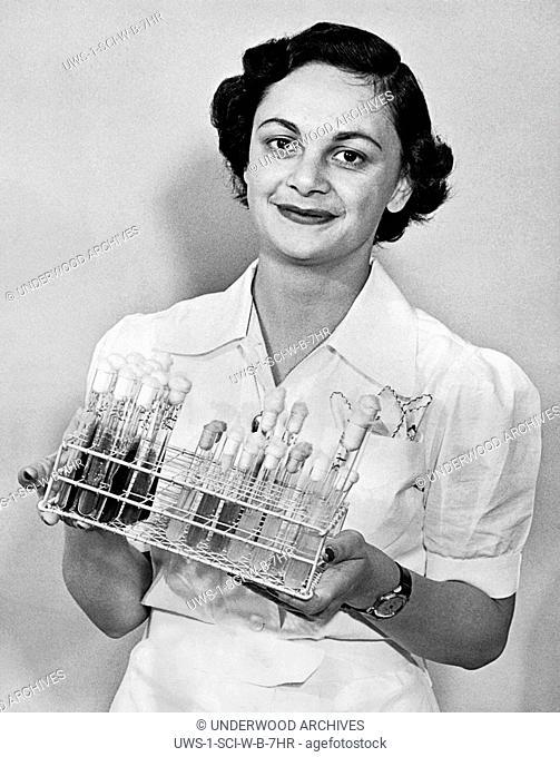 Los Angeles, California: April 10, 1952.University of Southern California graduate student, Marzieh Saghafi, from Tehran, Iran