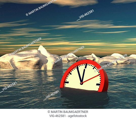 A sinking clock in the middle of icebergs. - 01/07/2007