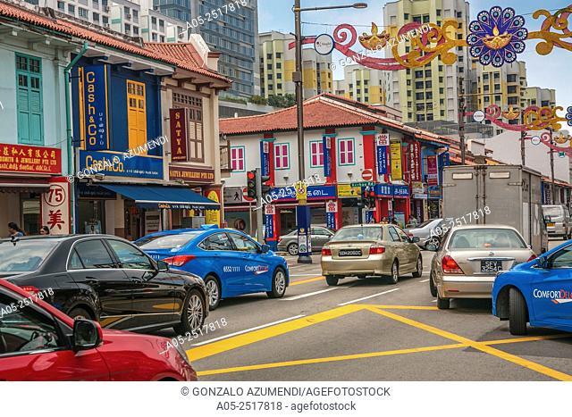 Serangoon Road. Little India. Singapore. Asia
