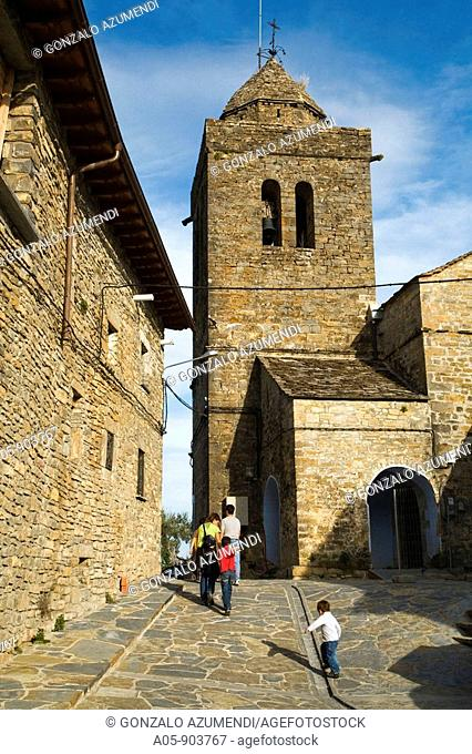 Baroque church dating to the 18th century, Sieste. Pyrenees Mountains, Sobrarbe, Huesca province, Aragon, Spain