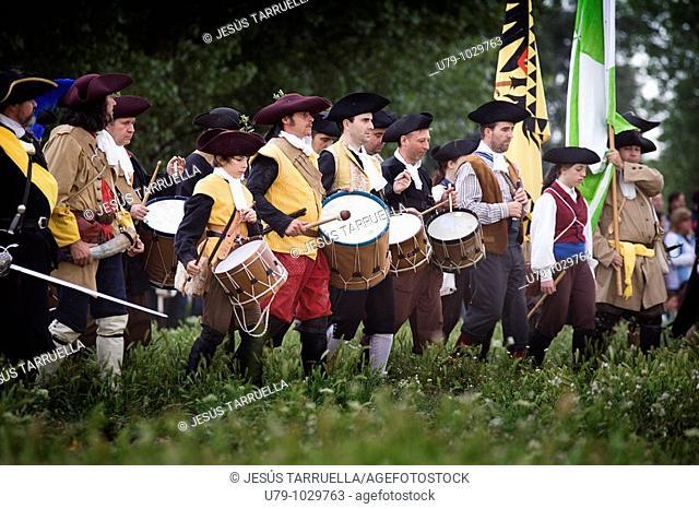 Soldados participantes en la 'Celebración de la batalla de Almansa 2009'