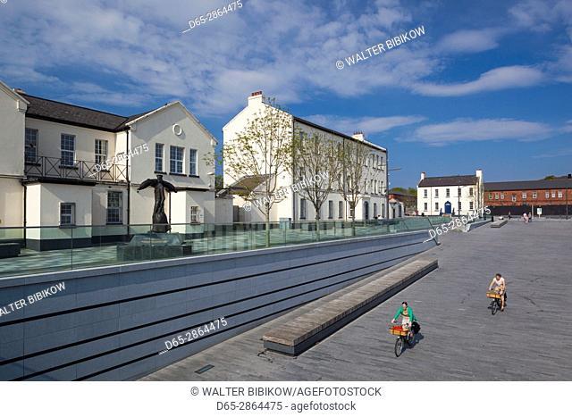UK, Northern Ireland, County Londonderry, Derry, Ebrington Square, renovated former British Naval base