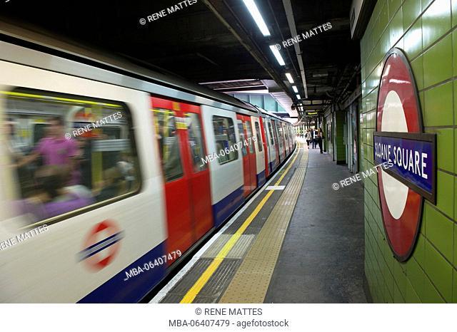 United Kingdom, London, Chelsea, Underground, Sloane Square station