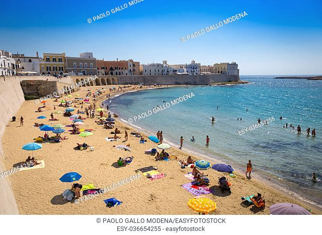 In the most cool location of Puglia Region (South Italy), a costal panorama with a wonderful blue sky
