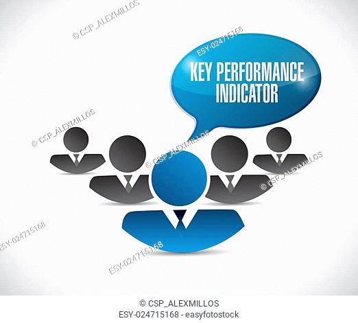 key performance indicator people illustration