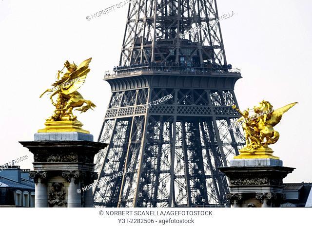 Europe. France. Ile-de-France. Paris. Effel Tower