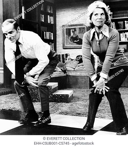 Senator William Proxmire does the Charleston with Dinah Shore on NBC-TVs 'Dinah's place'. Dec. 1, 1972. In his book, 'Last of the Big Time Spenders