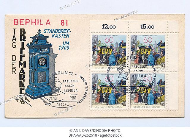Preussen salon bephila, postage stamps, india, asia