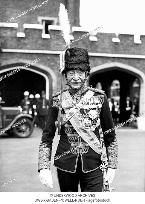England: c. 1930.Robert Baden-Powell, the founder of the Boy and Girl Scouts