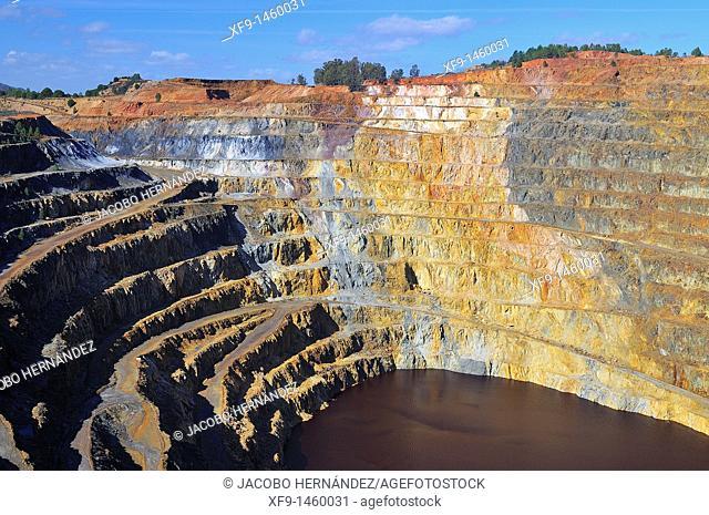 Corta Atalaya. Riotinto mines. Huelva province. Andalusia. Spain