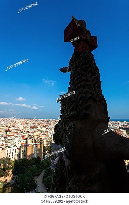 Barcelona overview. Barcelona, Spain