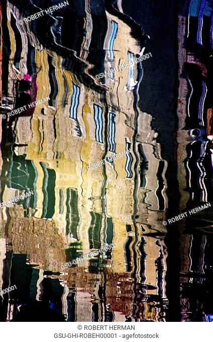 Buildings Reflected in Water, Venice Italy