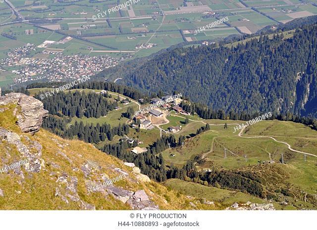 Pizolgebiet, Blick auf Wangs, Schweiz