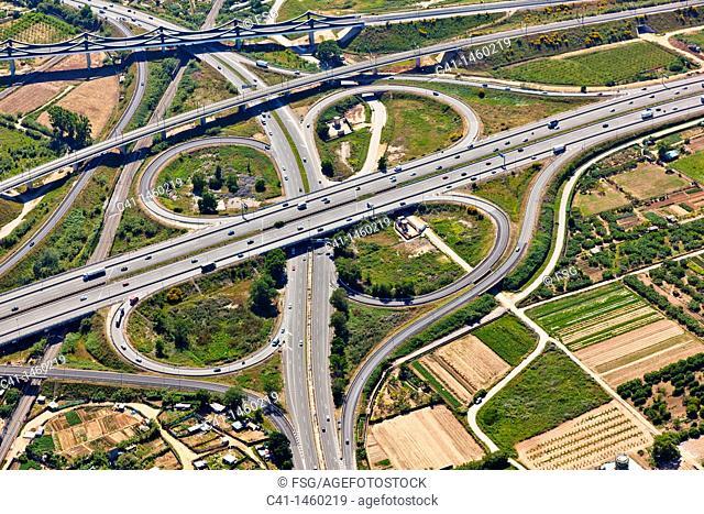 Highway  L'Hospitalet de Llobregat  Barcelona, Spain
