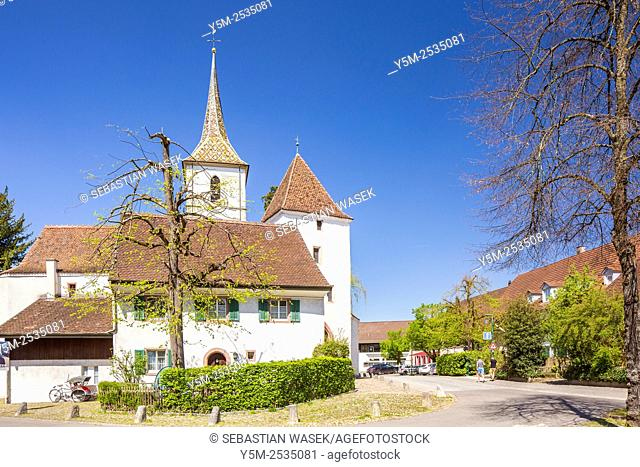 15th century Fortified Church of St Arbogast, Muttenz, Canton Basel-Landschaft, Switzerland
