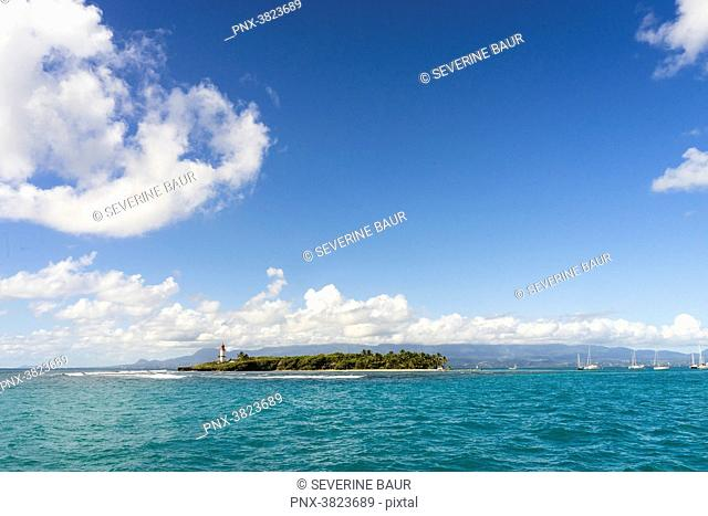 Global view on the Gosier island, Guadeloupe, France