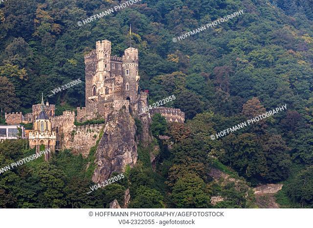 14th century Burg Rheinstein (Rheinstein Castle), rebuilt in the 19th century, Rhineland-Palatinate, Germany, Europe