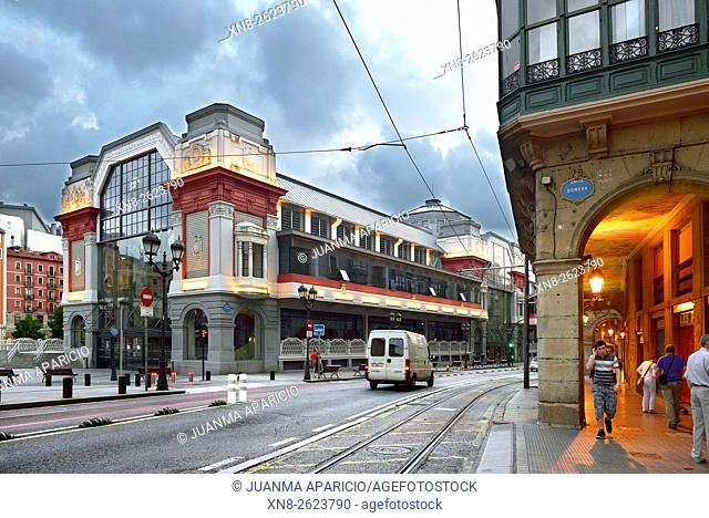 Ribera Market in Old Quarter, Bilbao, Biscay province, Basque Country, Euskadi, Spain, Europe