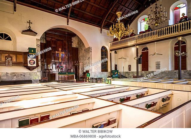 U.S. Virgin Islands, St. Thomas, Charlotte Amalie, Frederik Lutheran Church, interior