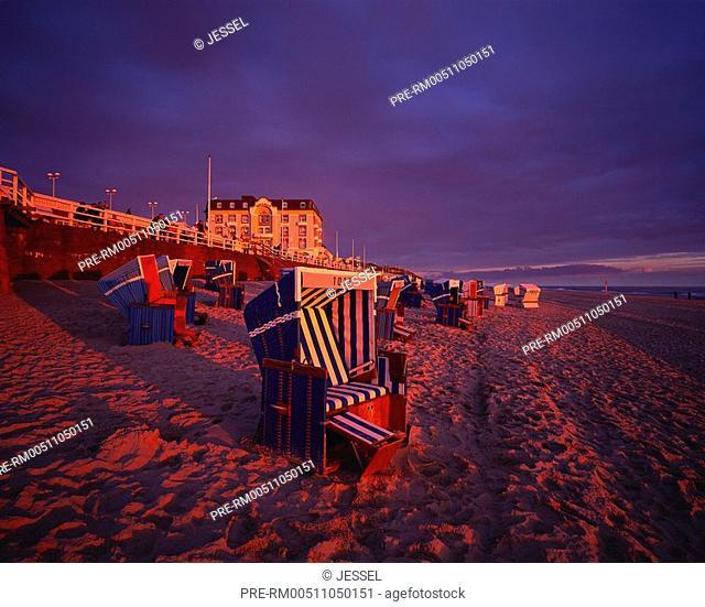 Beach, Westerland, Sylt, Schleswig-Holstein, Germany