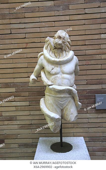 Museo Nacional de Arte Romano, national museum of Roman art, Merida, Extremadura, Spain- Mithraic Chronos figure