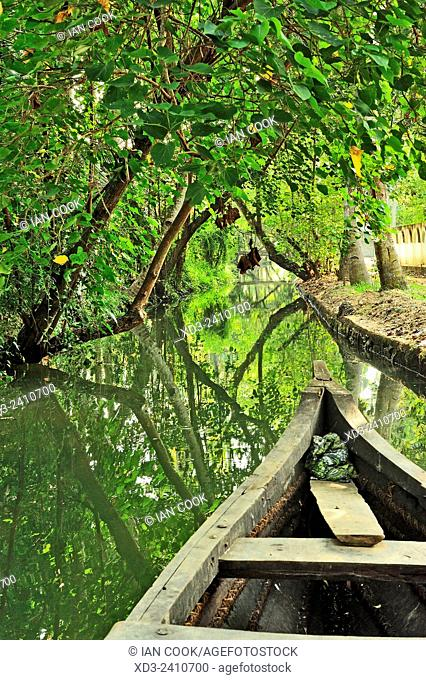 backwaters of Monroe Island, Kerala, India