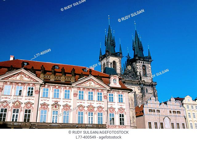 Tyn Church and Golz-Kinsky palace. Prague. Czech Republic