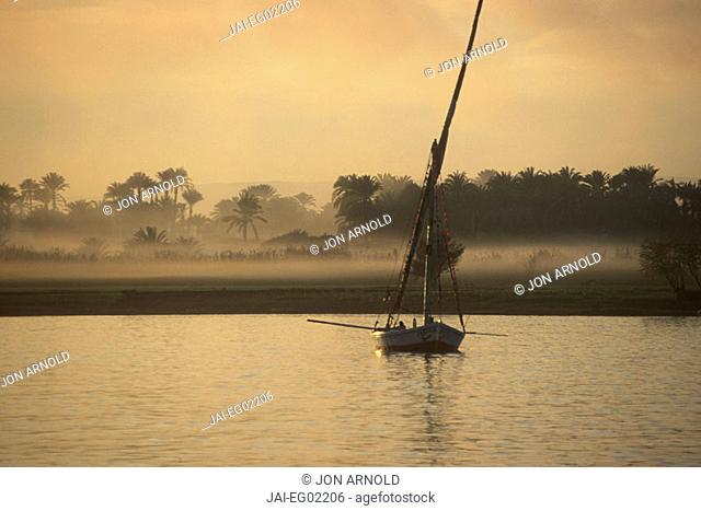 Felucca on the Nile, Luxor, Egypt