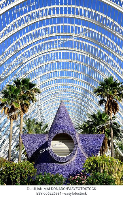 Space Umbracle gardens. City of Arts and Sciences in Valencia, Spain