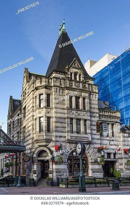 Historic building in downtown Victoria, BC, Canada