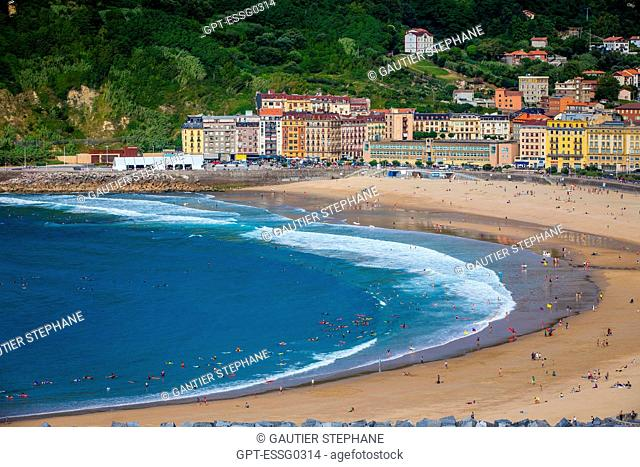 ZURRIOLA BEACH, SAN SEBASTIAN, DONOSTIA, BASQUE COUNTRY, SPAIN