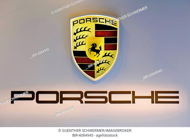 Porsche logo and coat of arms Stock Photos and Images | age