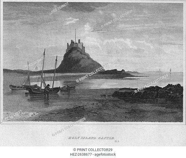 'Holy Island Castle', 1814. Artist: John Greig