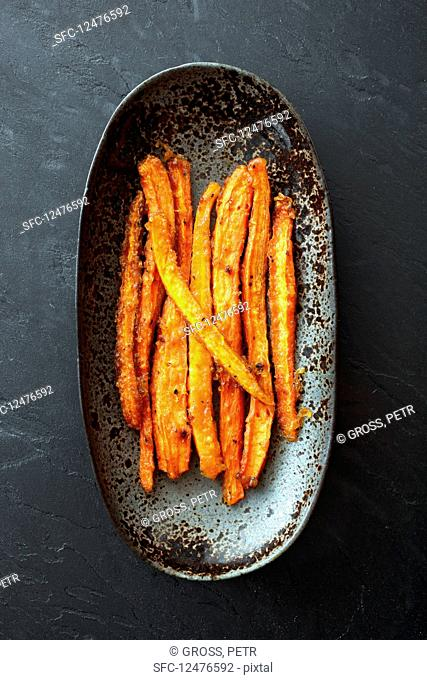 Roasted carrot stripped