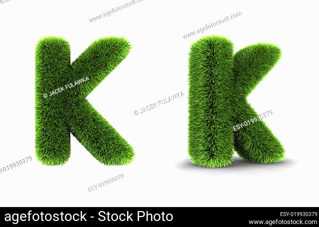 Grass Letter K