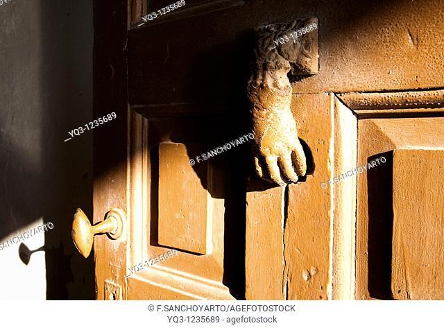 Door knocker, La Correria, Castro Urdiales, Cantabria, Spain