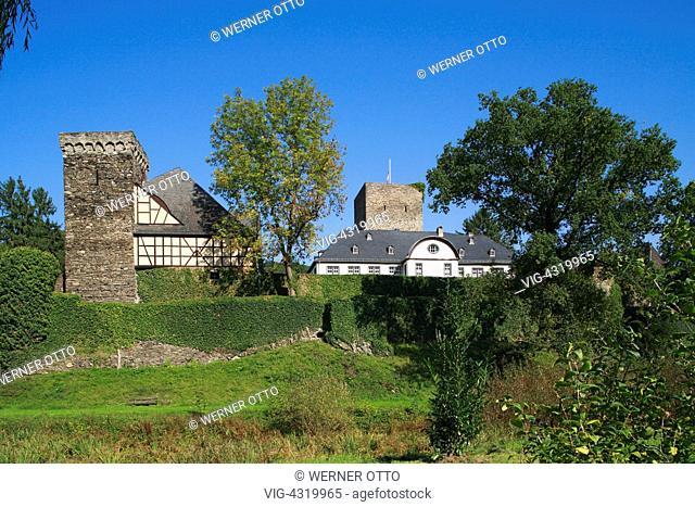 D-Obernhof, Lahn, Lahntal, Doersbach, Gelbach, Gelbachtal, Verbandsgemeinde Nassau, Naturpark Nassau, Westerwald, Rheinland-Pfalz, Schloss Langenau
