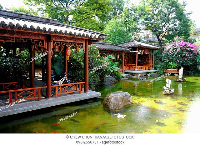 Traditional Chinese garden, china, asia