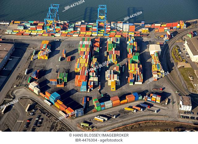 Container terminal Logport II, Duisburg, Ruhr district, North Rhine-Westphalia, Germany
