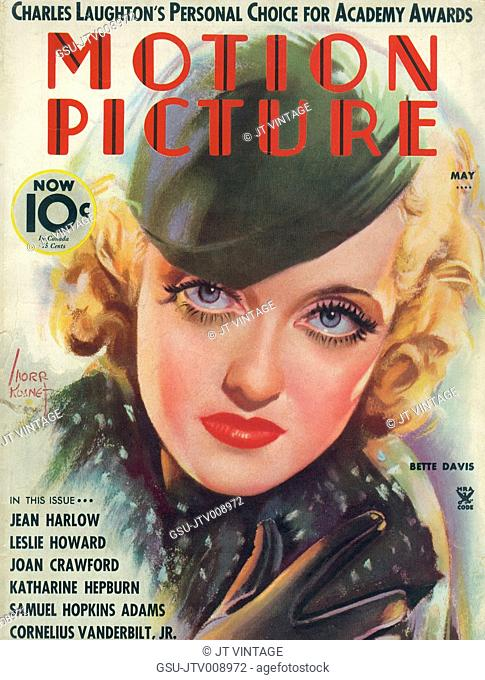 Bette Davis, Cover of Motion Picture Magazine, May 1935