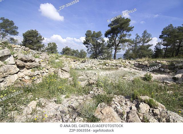 Ruins of la Bastida de les Alcusses, one of the most important Iberian archaeological sites in the Valencian Community, Moixent, Spain