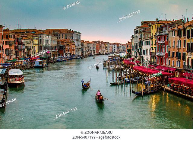 Canal Grande am Abend, Venedig, Italien