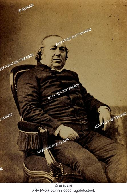 Portrait of Jules Gabriel Janin, French writer and critic, carte de visite, shot 1860-1870 by Mayer & Pierson