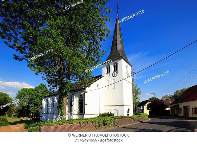 Germany, Voerde, Lower Rhine, Ruhr area, Rhineland, North Rhine-Westphalia, NRW, Voerde-Goetterswickerhamm, evangelic church Saint Nicodemus