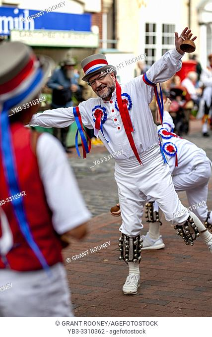 Eighteen Morris Dancing Sides From Around The South East of England Perform At The Annual Lewes Folk Festivalâ. . s Day of Dance, Lewes, Sussex, UK