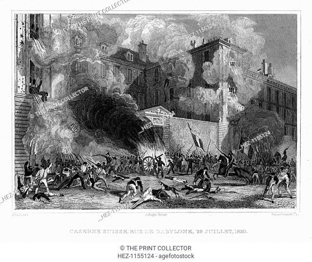 Swiss barracks, Rue de Babylone, Paris, 29th July 1830, (1831)