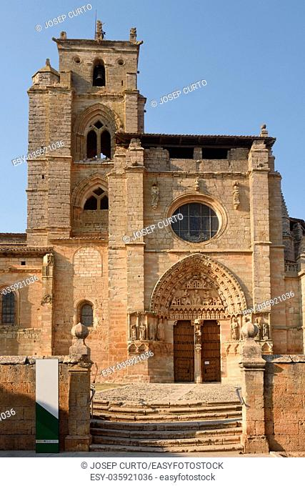 Santa Maria la Real church, Sasamon, Burgos province, Spain